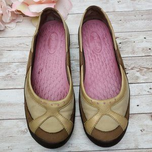 Clarks Privo Tan Leather Mary Jane Slip-Ons Sz 7.5